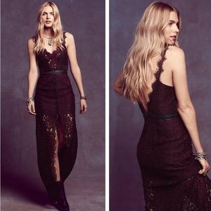 Free ✨People ✨ Scalloped Lace Maxi Dress